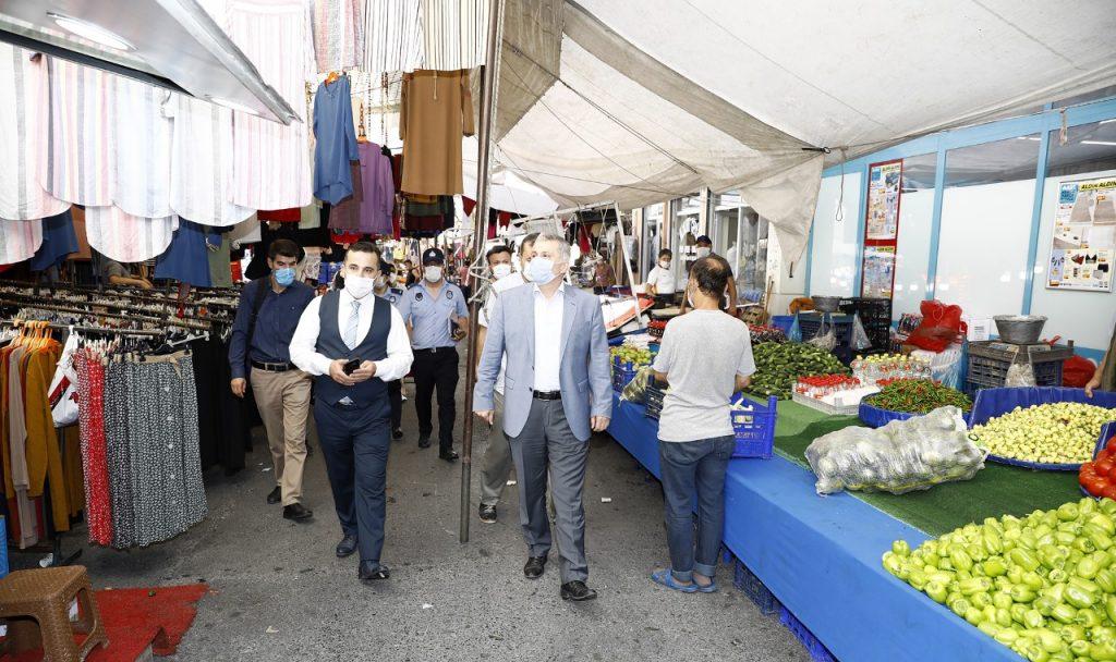 Denetimlere Esenler Kaymakamı Adil Karataş ve Esenler Belediye Başkan Yardımcısı Osman Gökçebaş ile zabıta ve polis ekipleri katıldı.